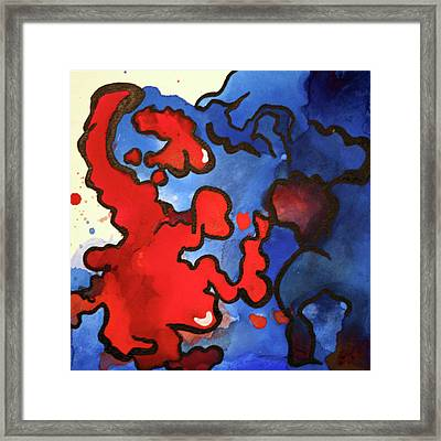 Blood In The Water 3 Of 4 Framed Print