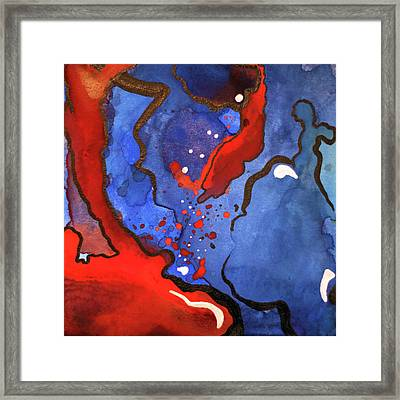 Blood In The Water 4 Of 4 Framed Print
