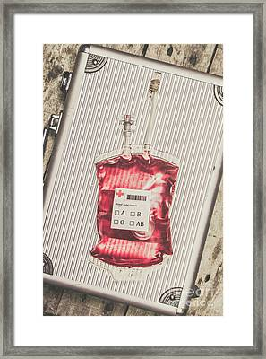 Blood Infusion Medical Kit Framed Print