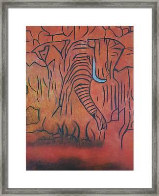 Blood Ivory Framed Print