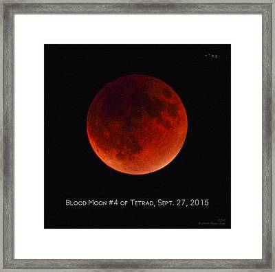Blood Moon #4 Of Tetrad, Without Location Label Framed Print