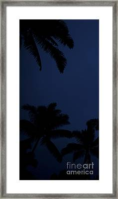 Blood Moon In Hawaii  - Triptych   Part 1of 3 Framed Print