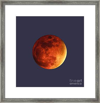 Blood Moon Framed Print by Jasmin Hrnjic