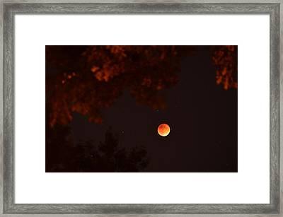 Blood Moon Jewish New Year Framed Print