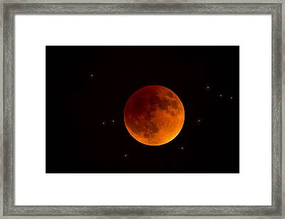 Blood Moon Lunar Eclipse 2015 Framed Print