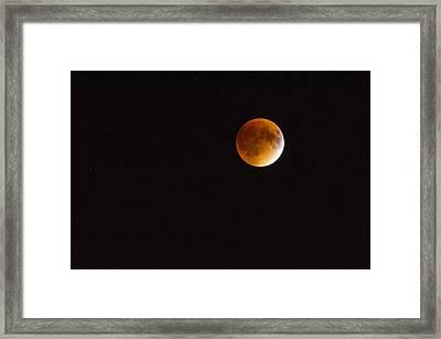 Blood Moon Luna Eclipse Framed Print by Michael Hubley