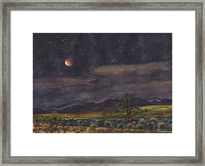 Blood Moon Over Boulder Framed Print