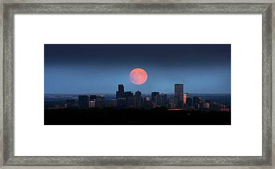 Blood Moon Over Denver Framed Print