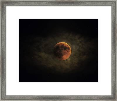 Blood Moon Framed Print by Ron  McGinnis