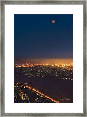 Blood Moon San Diego Framed Print