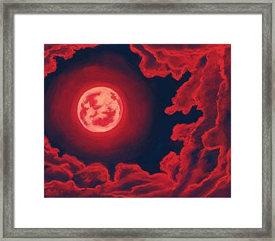 Blood Moon - Sky And Clouds Collection Framed Print by Anastasiya Malakhova