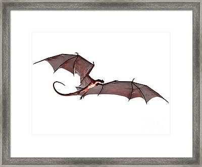 Blood Red Dragon Framed Print by Corey Ford