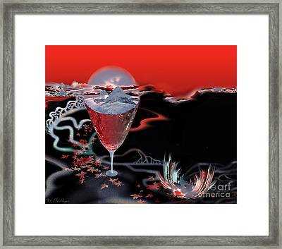 Blood Red From Pure White Framed Print