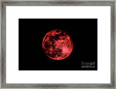 Blood Red Moonscape 3644b Framed Print