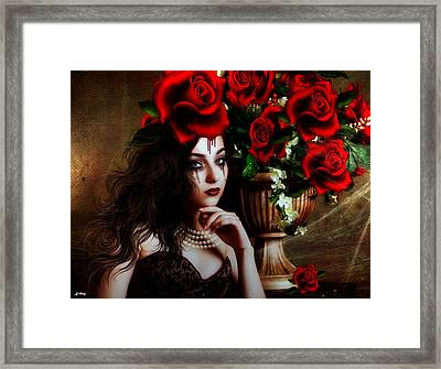 Blood Roses Framed Print
