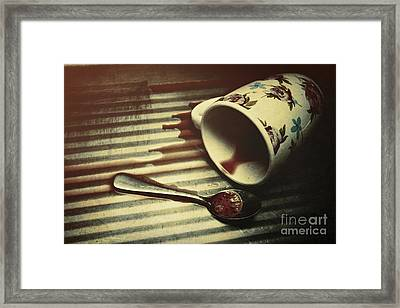 Blood, Spills And Tears Framed Print