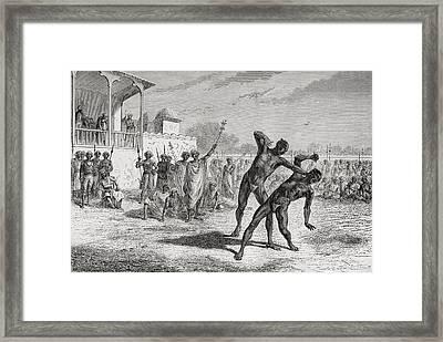 Blood Sport In Baroda, India In The Framed Print