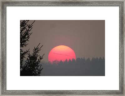 Blood Sun Framed Print by B Vesseur