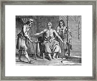 Blood Transfusion From Dog To Man, 1692 Framed Print by Wellcome Images