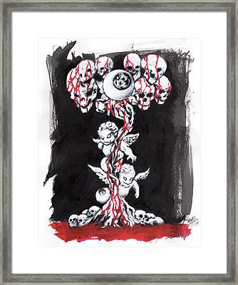 Bloody Angels Framed Print by Miguel Karlo Dominado