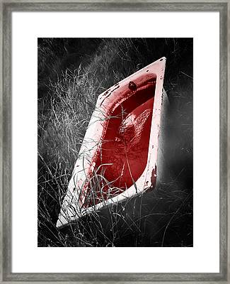 Bloody Bathtub Framed Print by Wim Lanclus