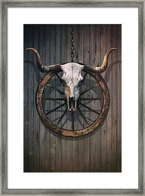 Bloody Bull Skull Framed Print