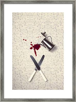 Bloody Dining Table Framed Print by Joana Kruse