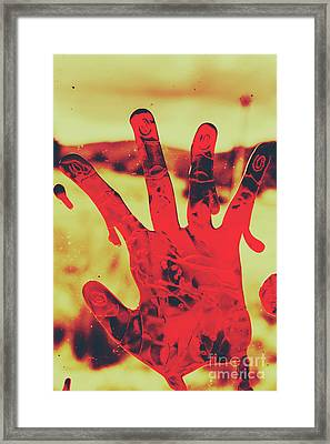 Bloody Halloween Palm Print Framed Print by Jorgo Photography - Wall Art Gallery