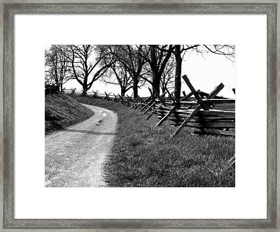 Bloody Lane Framed Print by Brian M Lumley