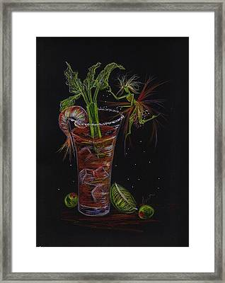 Framed Print featuring the drawing Bloody Mary by Dawn Fairies
