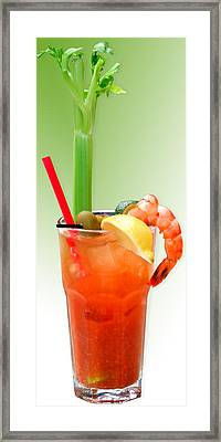 Bloody Mary Hand-crafted Framed Print by Christine Till