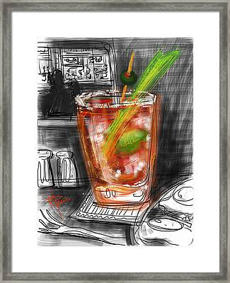 Bloody Mary Framed Print by Russell Pierce