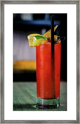 Framed Print featuring the photograph Bloody Mary by Ryan Smith
