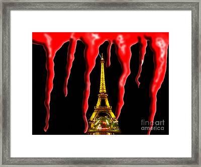 Bloody Paris - November 13, 2015 Framed Print