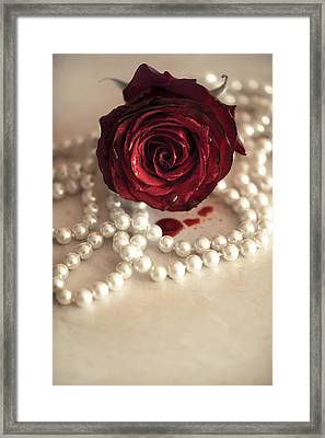 Bloody Rose Framed Print by Art of Invi