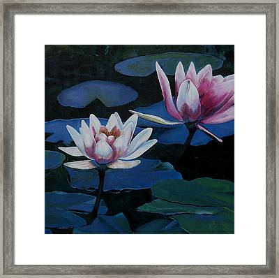 Bloom Moon Framed Print by Joan Cookson
