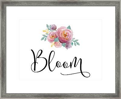 Bloom Framed Print by Nancy Ingersoll