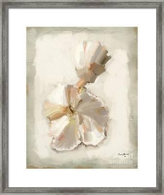 Bloom One Framed Print by Carrie Joy Byrnes