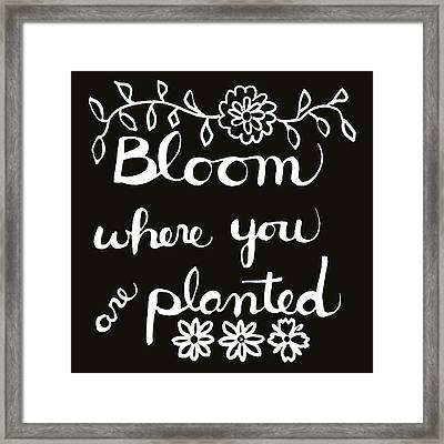 Bloom Where You Are Planted Framed Print by Blenda Studio