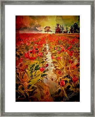 Bloomin Tulips Framed Print by Dale Stillman