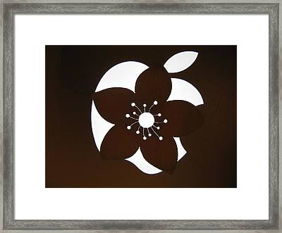 Blooming Apple Mac Framed Print