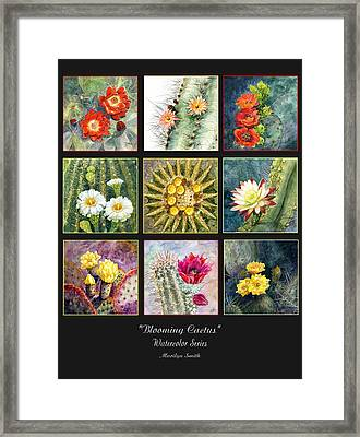 Framed Print featuring the painting Blooming Cactus by Marilyn Smith