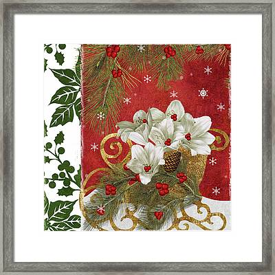Blooming Christmas II Framed Print by Mindy Sommers