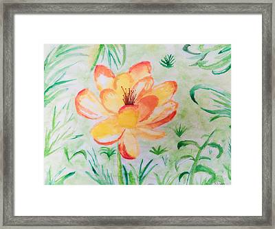 Blooming Flower Framed Print by Nura Abuosba