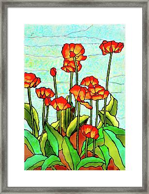 Blooming Flowers Framed Print by Farah Faizal