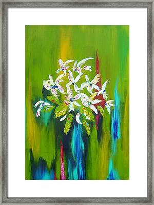 Blooming Glory Framed Print by Nicole Lee