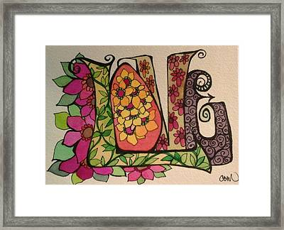 Blooming Love Framed Print