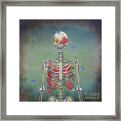 Blooming Skeleton  Framed Print