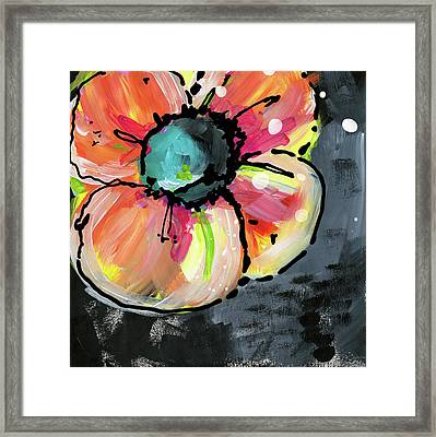 Blooming Wildflower- Art By Linda Woods Framed Print