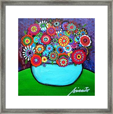 Blooms 4 Framed Print by Pristine Cartera Turkus